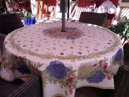 patio tablecloth with umbrella hole zipper ideas