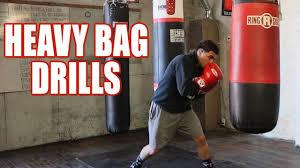 heavy bag drills improve your boxing