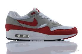 nike running shoes red and grey. red gray mens air max 87 nike running trainers shoes and grey