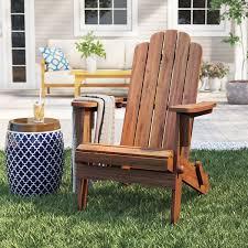 Imane <b>Solid</b> Wood Folding <b>Adirondack Chair</b> & Reviews | Birch Lane
