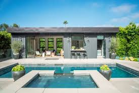 pool house. Beautiful Pool Party Pad Elegant Guesthouse Quiet Retreat This Little Structure Does It  All Thanks To Some Ingenious Design Tricks  Sunset Magazine And Pool House