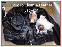 how to clean leather jacket at home