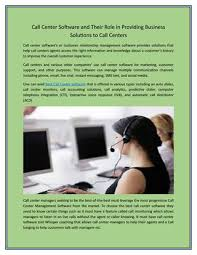 Progressive Call Center Call Center Software And Their Role In Providing Business