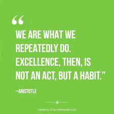 Aristotle Excellence Quote Best WE ARE WHAT WE REPEATEDLY DO EXCELLENCE THEN IS NOT AN ACT BUT A