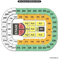 Bon Secours Wellness Arena Seating Charts