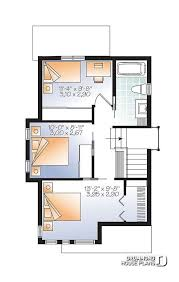 2nd level comfortable small 976 sq ft tiny house plan 3 bedrooms