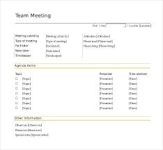Team Meeting Agenda Template Word Stephhammer Co