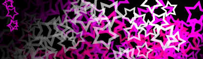 Cool Pink And Black Background Stars