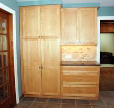 Kitchen Closet Pantry Kitchen Natty Wooden Kitchen Pantry Cabinet With Brown Backsplash
