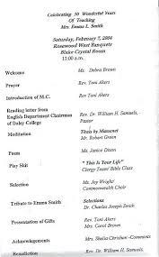 Sample Of 50th Birthday Party Program Retirement Dinner Party Program Sample Event Celebration Schedule