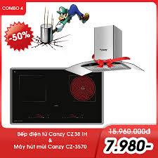 Combo 4: Bếp điện từ Canzy CZ 38IH + máy hút mùi
