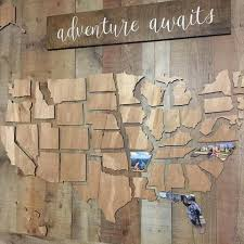 Pin by Autumn Fenner on DIY | Wooden map, Home diy, Home