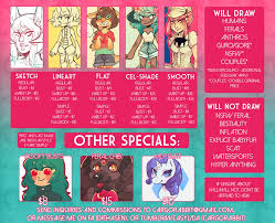 commission sheet commission sheet 2014 by cargorabbit on deviantart