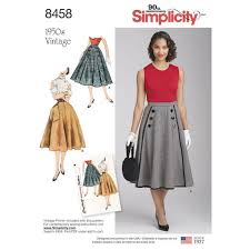 Simplicity Skirt Patterns Custom Simplicity48svintageskirtpattern48envelopefront Doctor