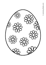 Easy Easter Egg Coloring Pages Color Bros