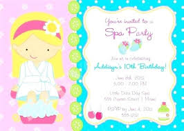 print free birthday invitations spa party invites free birthday invitation print your own choose