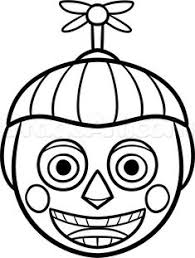 freddys nights at five balloon coloring pages boy sketch coloring page