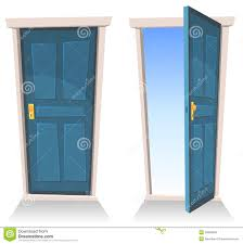 open front door illustration. Modren Open Illustration Of A Set Cartoon Front Doors Opened And Closed With Sky  Background Symbolizing Death Frontier Paradise Or Heavens Gate In Open Front Door E