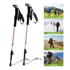 Anti Shock <b>Carbon Fiber Walking</b> Sticks <b>Telescopic Trekking</b> Pole ...