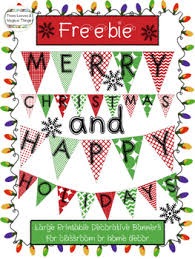 Freebie Happy Holidays And Merry Christmas Classroom Banner