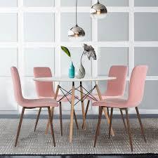 4er Stuhl Set Esszimmerstühle Coavas Stoff Kissen Küche