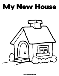 Small Picture my new home coloring pages for kids My New House Coloring Page