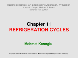 Chapter 11 REFRIGERATION CYCLES - ppt download