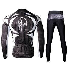 Paladin Cycling Jersey Size Chart Paladinsport Mens Black Long Sleeve Cycle Clothing Breathable Polyester Bike Clothes And Bib Pants Set