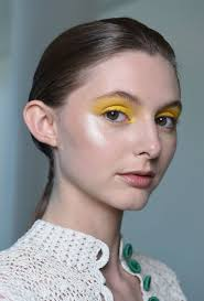 makeup will focus on eyes that are dressed in intense bright pop colors like blue and yellow inspiration es from the runway at novis nars global