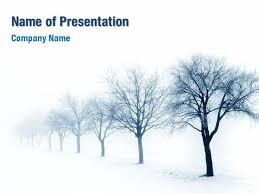 Winter Tree Template Winter Trees Powerpoint Templates Winter Trees Powerpoint