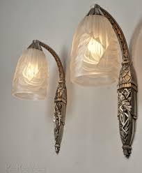 trendy pair art nouveau wall sconce light fixtures schneider pair of french reion art deco wall