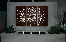outdoor iron wall art image of metal decor boating large tree