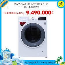 Điện máy XANH (dienmayxanh.com) - Máy giặt LG inverter 8 kg FC1408S4W2  💵Giá sốc: #9490k 🎁Khuyến mãi trị giá 300.000₫: 📌Thùng bia Budweiser 24  lon trị giá 300.000₫ 📌ƯU ĐÃI KHỦNG: Mua