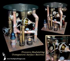 steampunk inspired furniture. Interesting Inspired Steampunk Table  Pipe Art Movie Themed Furniture For Home Theater Or Office Throughout Inspired Furniture S