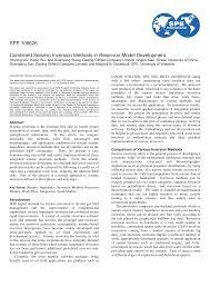 SPE 109626 Combined Seismic Inversion Methods in Reservoir Model Development