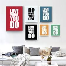 inspirational frames for office. Love What You Do English Inspirational Phrases Canvas Painting Kids Room Office Poster Picture Wall Decoration Frames For R