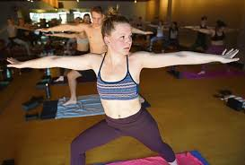 brooke langley pares sunday morning in a yoga sculpt workout at corepower in boulder to