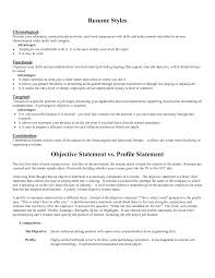 Cover Letter Career Objective In A Resume Objective In A Resume