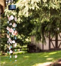 making seashell seaglass wind chimes