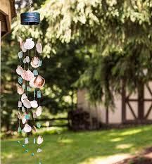 making seashell seaglass wind chimes