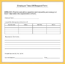 Paid Time Off Form Template Day Off Request Form Entrerocks Co