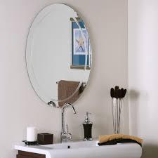 frameless mirrors for bathrooms. Frameless Oval Wave Wall Mirror Price: $138.99 Mirrors For Bathrooms