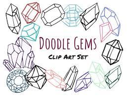 Art Doodle Doodle Gem Clip Art Hand Drawn Clip Art Doodle Clip Art Hand Drawn Gems Editable Png Clipart Gem Clipart Jewel Clipart Digital Stamps