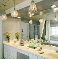 chic hanging lighting ideas lamp. Modern Bathroom Lighting In Luxurious Theme With Ceiling Light Fixture Made Of Metal And Chic Hanging Ideas Lamp
