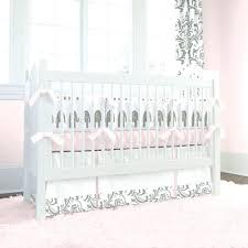 decoration pink gingham nursery bedding and gray elephants crib