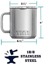 Once on the trail or the. Amazon Com Yeti Rambler 10 Oz Stackable Mug Stainless Steel Vacuum Insulated With Standard Lid Black Sports Outdoors