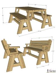 cute design ideas convertible furniture. Get The Free Plans For This Convertible Picnic Table And Bench Combo At Buildsomething.com Cute Design Ideas Furniture