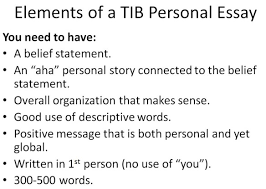 uncategorized ms stone s class page  elements of tib essay