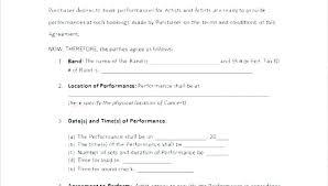 Band Performance Contract Template Fashion Design Templates Illustrator
