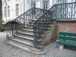 Exterior Wrought Iron Stair Railing Home Design Ideas And Pictures Iron Handrails For Outdoor Stairs